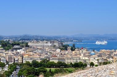 Pohled na kyperské město Kerkyra