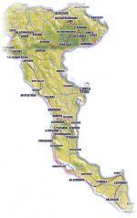 Korfu - mapa